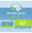 logo label natural product Water milk vector image