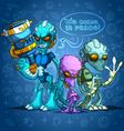 Alien invaders vector image
