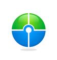target round circle green blue logo vector image