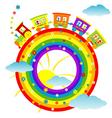 rainbow toy train vector image