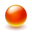 Red and yellow sphere on white background vector image