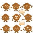 button smiles vector image vector image