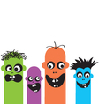 funny cartoon monsters vector image vector image