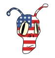 american alien mask vector image