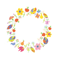 Autumn abstract frame circle vector image