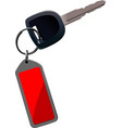 car key with remote control isolated over white vector image