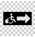 patient exit icon vector image