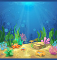 Underwater landscape The ocean and the undersea vector image