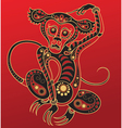 Chinese horoscope Year of the monkey vector image vector image