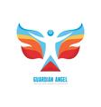 Guardian angel logo template concept vector image