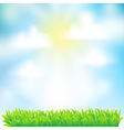 spring background with grass vector image