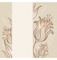 Vintage hand drawn floral background with tulips vector image