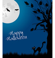 Halloween backgound vector image vector image