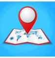 location icons on the world map vector image