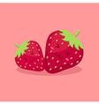 Cute Strawberry Fruit Mascot vector image