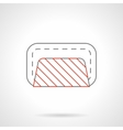 Road closed barrier flat line icon vector image