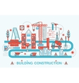 Modern Flat thin Line design Construction and vector image