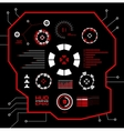 Abstract red virtual graphic touch user vector image