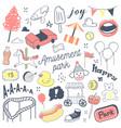 amusement park freehand hand drawn doodle vector image