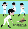 baseball player vector image
