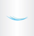 blue water wave flow icon logo vector image