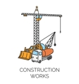 Construction works sign vector image