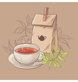 cup of tea and paper packaging vector image