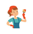 girl painter character young professional paint vector image