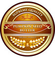 Pumpkin seed butter icon vector image
