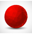 Red Geometric Ball vector image