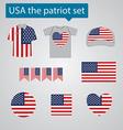 USA patriot set vector image