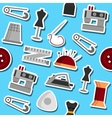 Sewing flat pattern vector image vector image