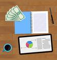 statistic finance chart vector image