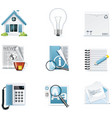 universal website icons vector image vector image