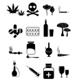 Drugs icons set vector image