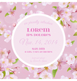 Baby Arrival or Shower Card - with Cherry Flowers vector image vector image