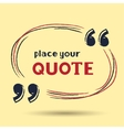 template for quotes vector image