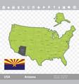 arizona flag and map vector image