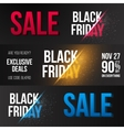 Black Friday Sale Exlosion Banner Template vector image