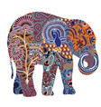 decorated elephant on a white background vector image