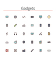 Gadgets Colored Line Icons vector image