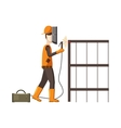 Industrial construction welder worker icon vector image