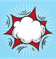 comic speech bubble cartoon cloud vector image