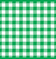 seamless green white traditional gingham pattern vector image vector image