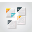 Modern business step glassi style options banner vector image