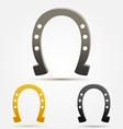 Set of Horseshoe icons vector image