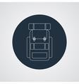 flat modern set of three hiking backpacks Three vector image
