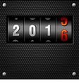 2016 New Year Analog Counter vector image