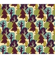 Forest color seamless pattern vector image