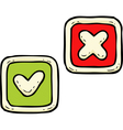 delete and check button vector image vector image